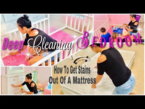 Deep Cleaning Bedroom | How To Sanitize + Remove Stains From Mattress
