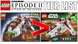 LEGO Star Wars Episode 2 Sets With My Brother... (LEGO Tier List)