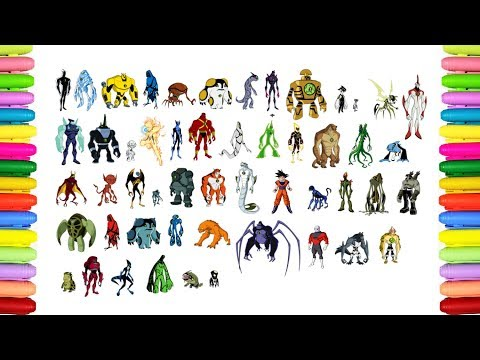 Coloring all Ben 10 Aliens transformations