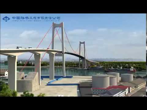 Maputo-Katembe Bridge construction update 2017.09