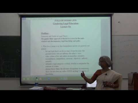 Gendering Legal Education | Class:6 Part1 | GIAN | Nalsar Un