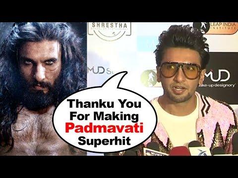 Ranveer Singh's Reaction On Padmavati Success & His Alauddin Khilji Character