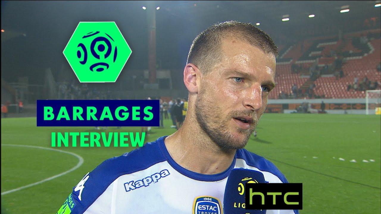 Interview de fin de match fc lorient estac troyes 0 0 for Match estac