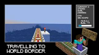 [24/7] Travelling to world border in Minecraft