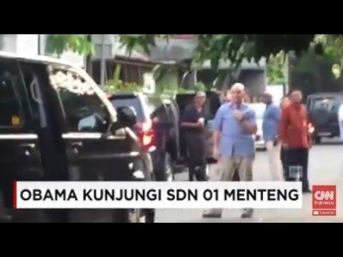 Bernostagia; Obama Kunjungi SDN 01 Menteng, Jakarta Pusat