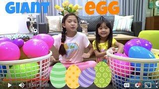 Giant Egg Hunt Challenge with Kaycee and Rachel