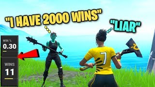 I EXPOSED my random duos STATS in Fortnite... (they lied)