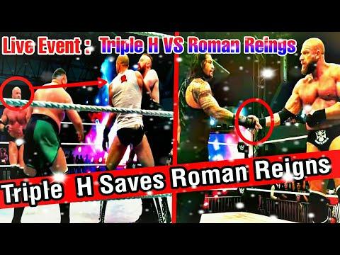 Triple H VS Roman Reigns (Intercontinental Championship) : 2nd Live Event in UAE, ABU DHABI