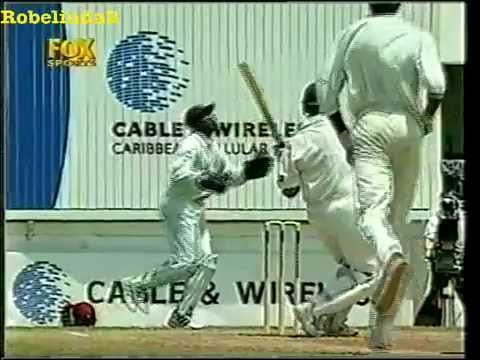 Curtly Ambrose hooked for 2 huge SIXES by Colin Miller, of all people!
