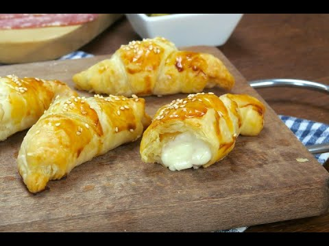 Savory croissants: delicious and very easy to make!