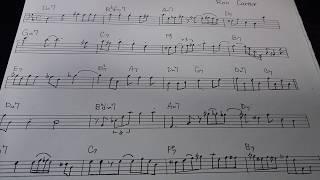 Ron carter / wave (bass solo transcription)