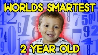 Worlds Smartest 2 Year Old SOLVING HARD MATH PROBLEMS with Cupcake Prize