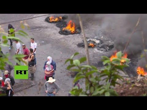 Protestas violentas por los resultados electorales en Honduras
