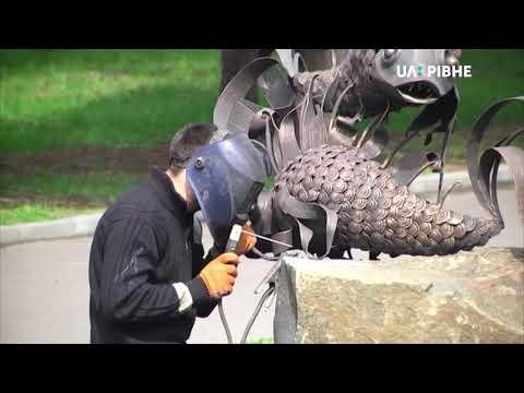 Телеканал UA: Рівне: Металеві знаки Зодіаку – знову на Алеї кованих скульптур