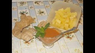 кисло - сладкий соус с консервированным ананасом и имбирем