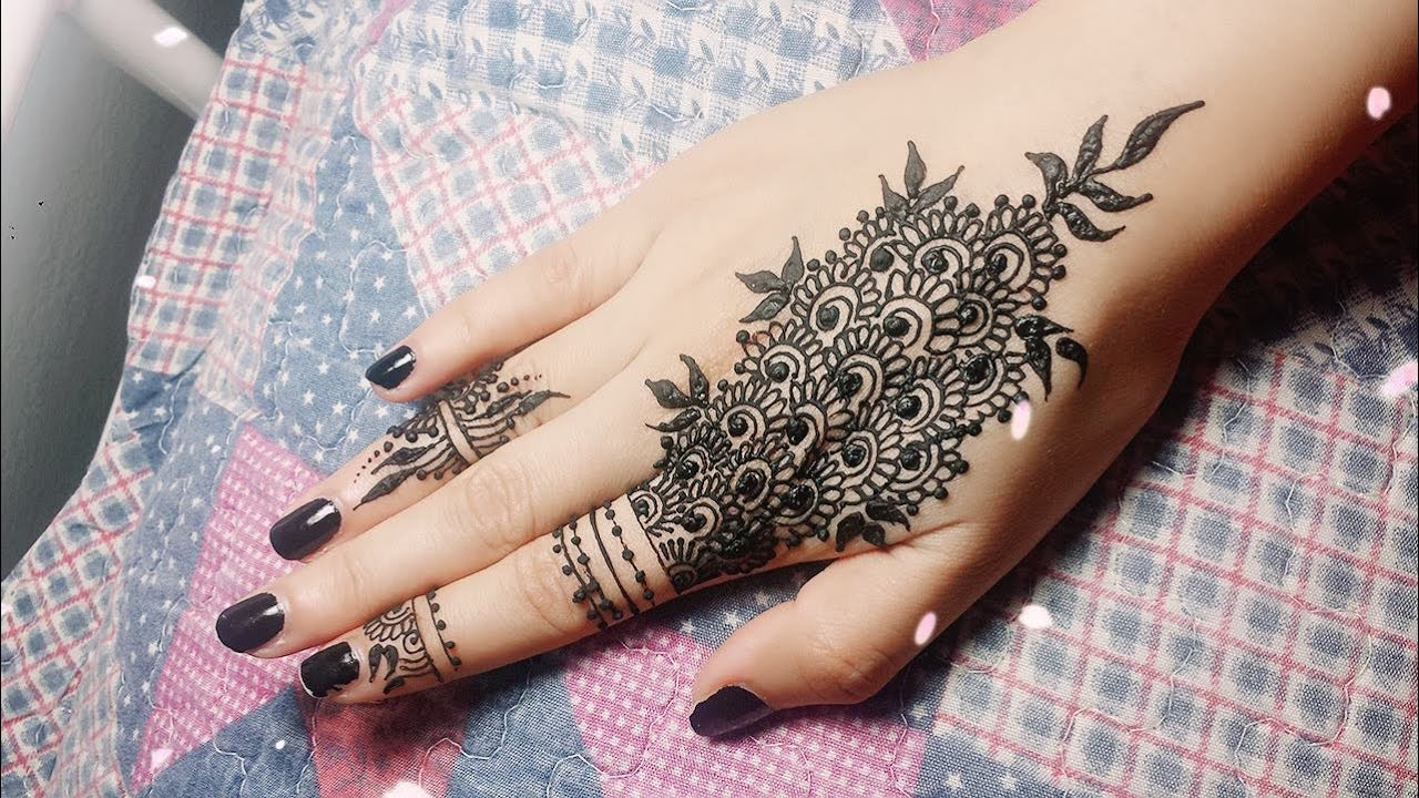 Easy Mehndi Tutorial : Diy easy mehendi design for fingers tutorial henna temporary
