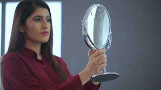 5X Magnifying Mirror Tabletop - Silver video