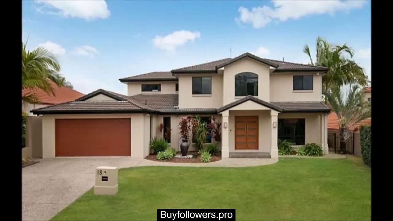 Fachadas de casas pintadas de color beige youtube for Mejores colores para pintar una casa