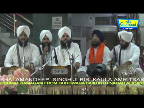 bhai amandeep singh ji bibi kaula amritsar on 2 august 2017 at gurdwara baikunth nagar aligarh