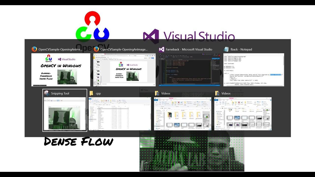 [OpenCV in Windows] Farneback Optical Flow