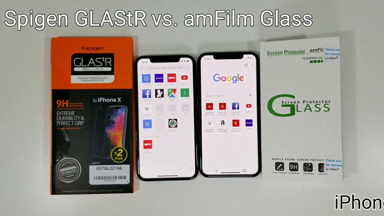 release date: bf573 62838 iPhone X Screen Protector BATTLE! | Spigen GLAStR vs amFilm Glass!