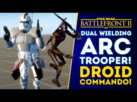 NEW UNITS! Dual Wielding Arc Trooper, Droid Commando with Vibrosword! - Star Wars Battlefront 2 thumbnail