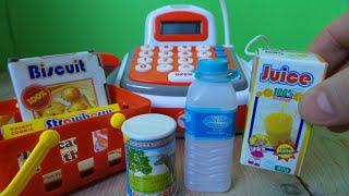 SPEELGOED KASSA UITPAKKEN EN WINKELTJE SPELEN ~ UNBOXING TOY CASH REGISTER FOR KIDS