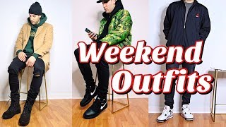 CASUAL WEEKEND OUTFITS - NIKE - YEEZY - JORDAN RETRO - REPRESENT DENIM - STREETWEAR LOOKBOOK