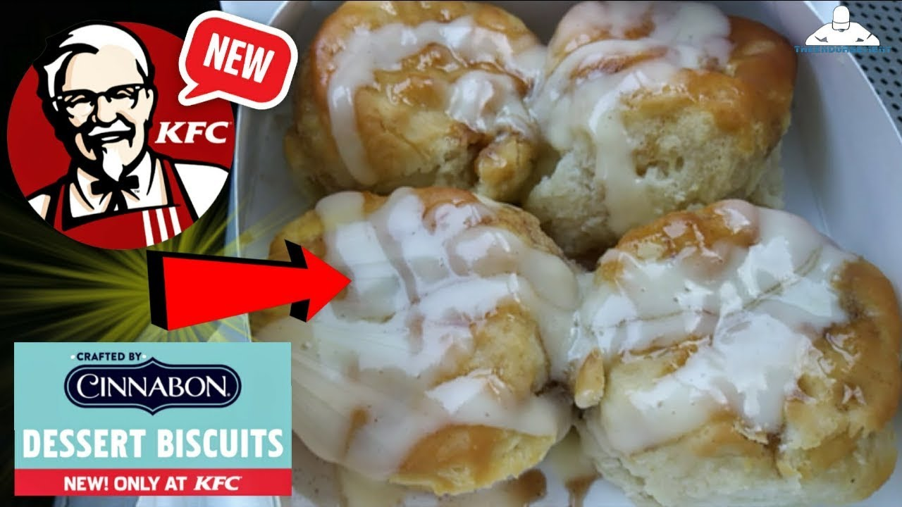 Kfc Cinnabon Dessert Biscuits Review Youtube