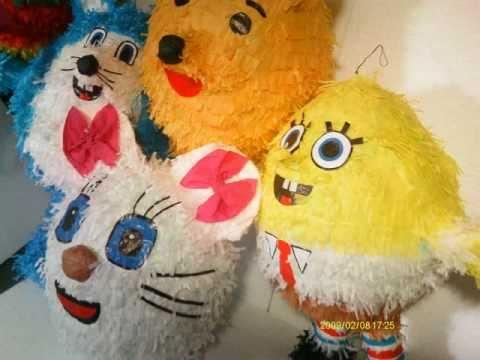 Pi atas para reventar o decorar fiestas infantiles youtube for Decoracion de pinatas infantiles