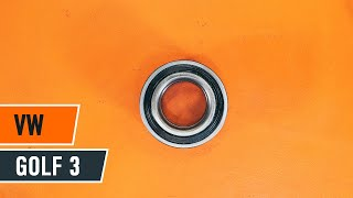 rear and front Wheel Bearing fitting VW GOLF III (1H1): free video