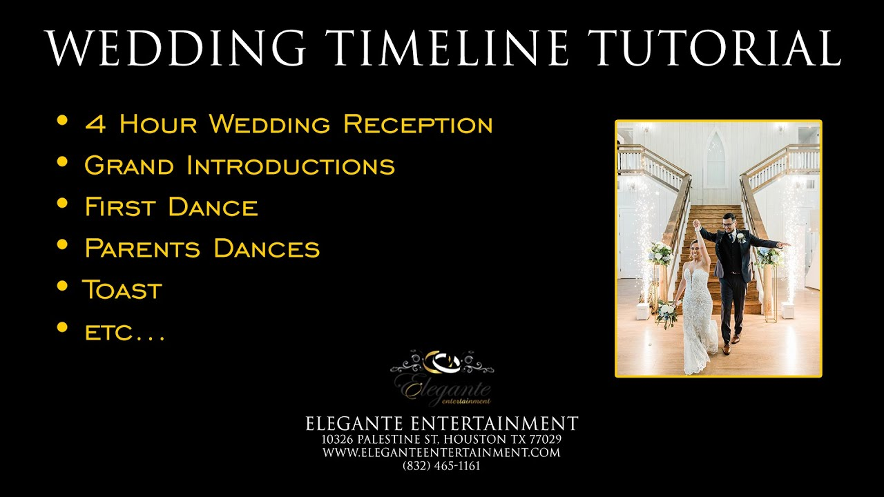 Wedding Reception Timeline Or Itinerary Tutorial Djs