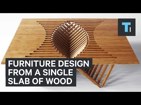 Furniture Design From Single Slab Of Wood