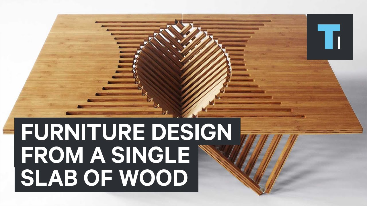 Furniture design from a single slab of wood youtube for Furniture design