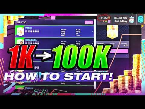 HOW TO TRADE FROM 1K TO 100K COINS ON THE WEB APP FAST!! (HOW TO START FIFA 21 ULTIMATE TEAM)