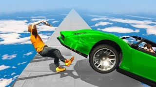 HIT BY A CAR IN THE SKY! (GTA 5 Funny Moments)