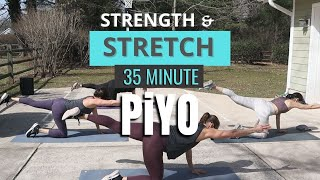 PiYO Full Body Stretch & Strength | 35 MIN Recovery Workout At Home | All Levels