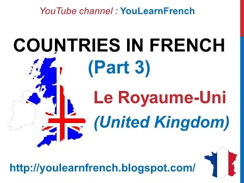 French Lesson 54 Countries O To Z Vocabulary Pronunciation