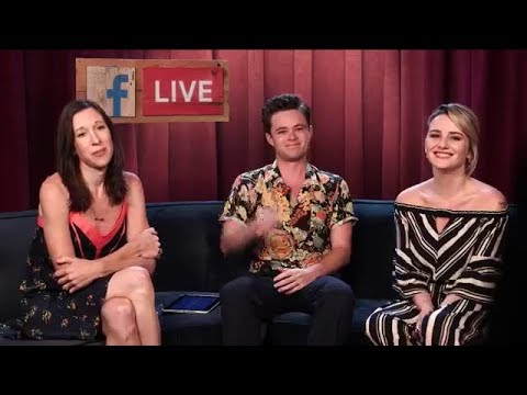 The author of Fallen upcoming film Lauren Kate was live with stars on facebook