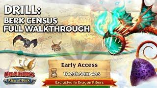 Drill: Berk Census - New Gauntlet Event Full Walkthrough | Dragons: Rise of Berk
