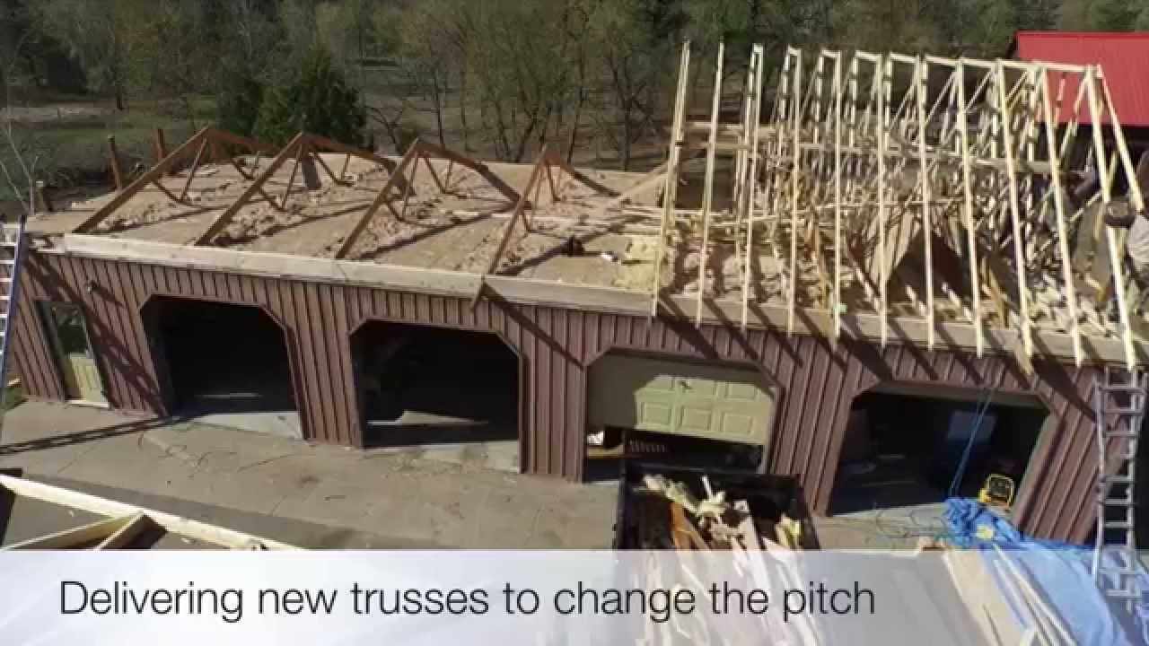 Roof Framing Changing Pitch Of The Roof Youtube