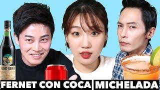 Coreanos Reaccionan a Michelada y Fernet con Coca