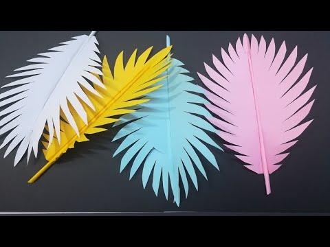 ORIGAMI PAPER LEAF CUTTING DIY - How To Cut a Paper Leaf - Tutorial Video