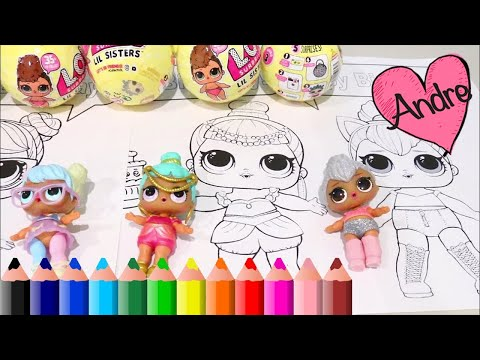 Dibujos Para Colorear De Muñecas Lol Surprise Juguetes Con