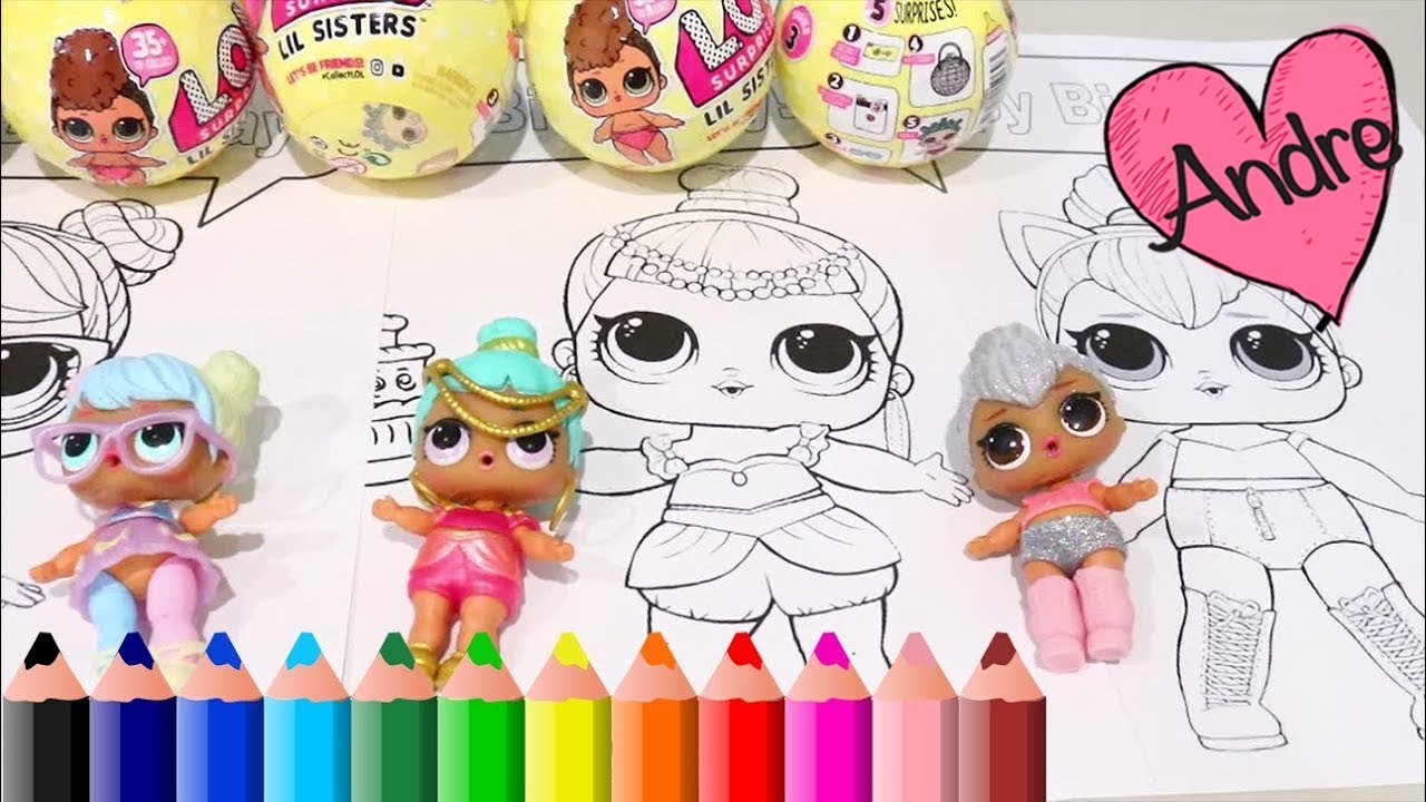 Dibujos Para Colorear De Muñecas L O L Surprise Juguetes Con Andre Para Niñas Y Niños