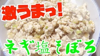 簡単で激ウマなネギ塩そぼろ丼作ってみた!!!【男飯】【つっちんぐ】