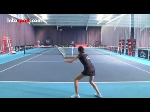 Basic Forehand Technique - Tennis School - intosport.com.MP4