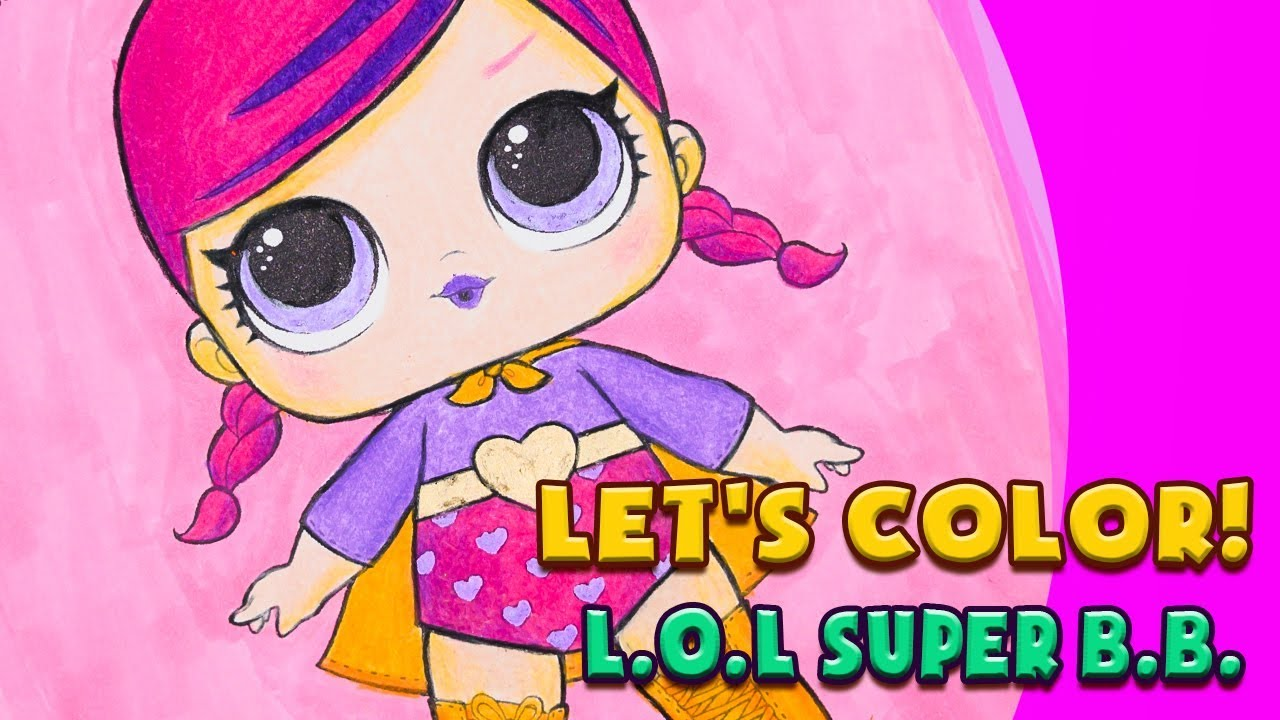 Coloring Lol Surprise Super Baby Coloring Page Massive Panda S Coloring World Youtube