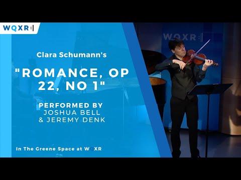 Joshua Bell and Jeremy Denk Perform Clara Schumann 'Romance, Op  21, No  1'