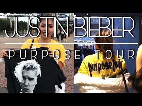 JUSTIN BIEBER Purpose Tour Sydney Concert & Merch!!!
